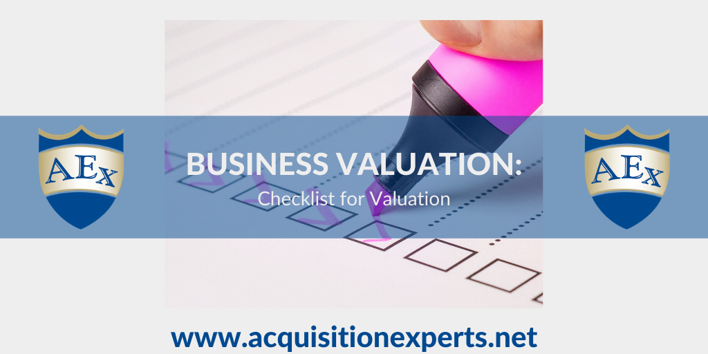 Checklist for Valuation
