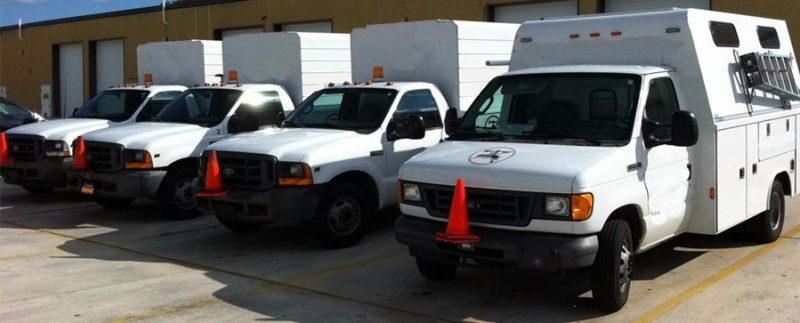 Fleet of plumbing trucks in south FL